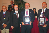 Representatives of McHenry County College and the Dana Corporation accept ICCTA's 2004 Business/Industry Partnership Award.