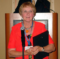 Virginia McMillan, ICCTA's newest Honorary Member